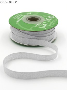 woven silver metallic ribbon