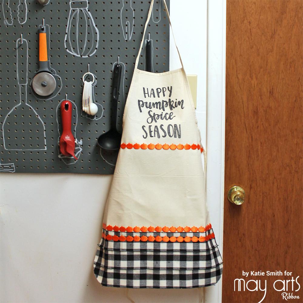 DIY Pumpkin spice apron