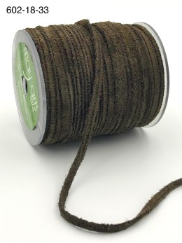 brown 100% leather string suede cord