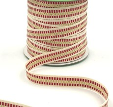 candy cane stripe metallic gold cotton ribbon