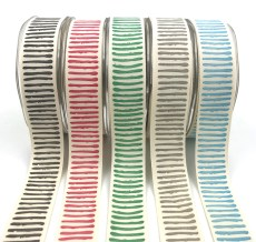 "1"" paint stripe abstract cotton ribbons"