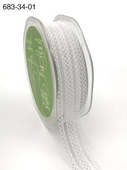 white batiste elastic lace ribbon