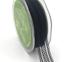 black batiste elastic lace ribbon