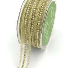 gold pearl lace metallic ribbon