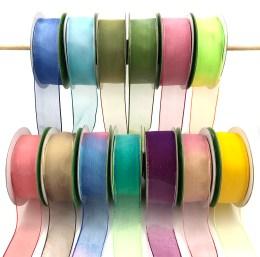 "1.5"" ombre tie dye organza ribbons"