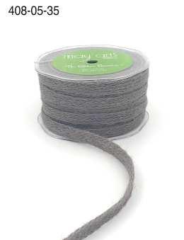 gray jute burlap woven ribbon
