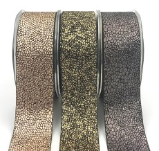 metallic snake skin ribbons
