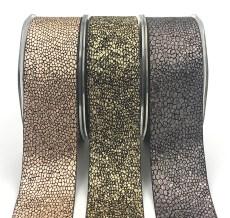 metallic snake skin ribbons