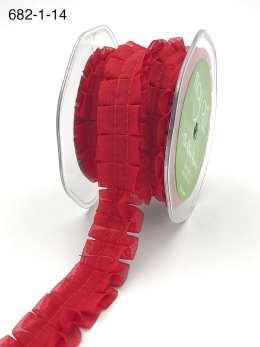 red pleated ruffle chiffon ribbon