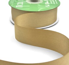 dark champagne double face satin ribbon
