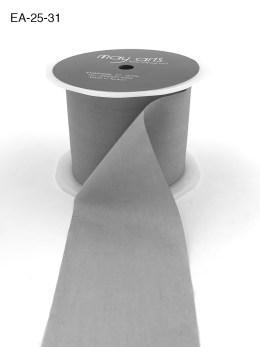gray silver faux silk wrinkled nylon ribbon