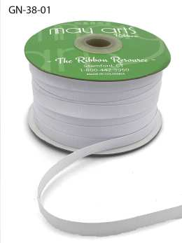 thin white grosgrain ribbon