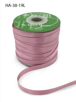 mauve double face satin ribbon