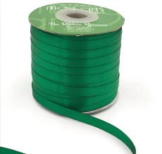 green double face satin ribbon