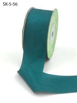 Shaded Spruce Dark Teal Hand Dyed Silk Ribbon