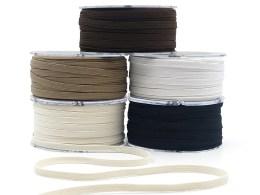 Flat Band Elastic Ribbons