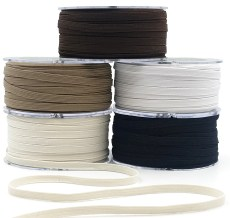 Flat Band Elastic Ribbons