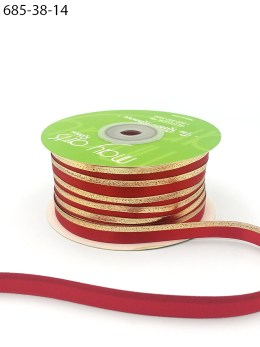 red gold foil satin invitation ribbon