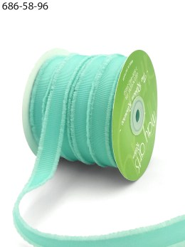 robin's egg blue fuzzy grosgrain ribbon