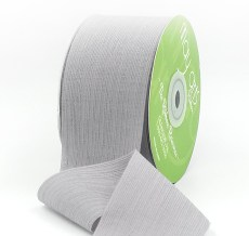 gray crinkle chiffon wedding ribbon