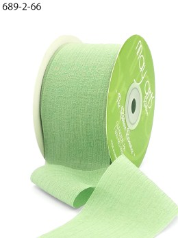 celery green crinkle chiffon wedding ribbon