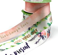 inspiration printed satin ribbon