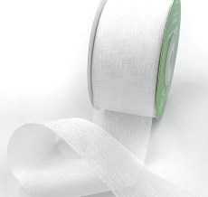 white iridescent organza ribbons