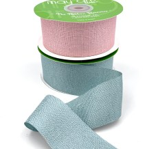 metallic tweed ribbons