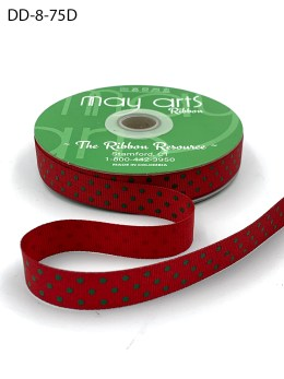 red and green polka dot grosgrain ribbon