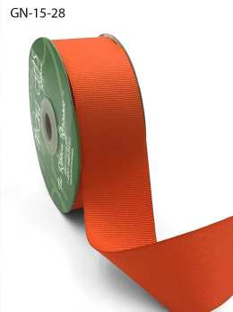 1.5 Inch Light-Weight Flat Grosgrain Ribbon with Woven Edge - GN-15-28 Orange