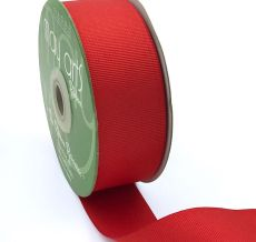 1.5 Inch Light-Weight Flat Grosgrain Ribbon with Woven Edge - GN-15-54 BRIGHT RED