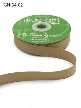 ~3/4 Inch Light-Weight Flat Grosgrain Ribbon with Woven Edge - GN-34-02 Champagne