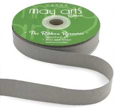 ~3/4 Inch Light-Weight Flat Grosgrain Ribbon with Woven Edge - GN-34-31 Silver