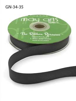~3/4 Inch Light-Weight Flat Grosgrain Ribbon with Woven Edge - GN-34-35 Stormy Grey