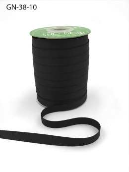 ~3/8 Inch Light-Weight Flat Grosgrain Ribbon with Woven Edge - GN-38-10 Black