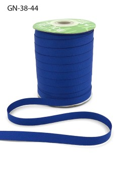 ~3/8 Inch Light-Weight Flat Grosgrain Ribbon with Woven Edge - GN-38-44 Royal Blue
