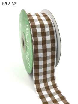 1.5 Inch Checkered Ribbon with Woven Edge - KB32 - ANTIQUE GOLD