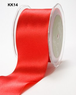 2 Inch Single Faced Satin Cut on the Bias Ribbon with Cut Edge - KK14 - RED