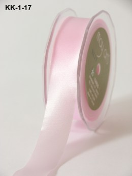 1 Inch Single Faced Satin Cut on the Bias Ribbon with Cut Edge - KK17 - PINK