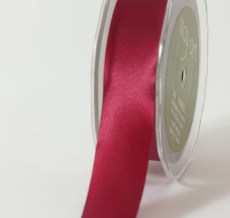 1 Inch Single Faced Satin Cut on the Bias Ribbon with Cut Edge - KK25 - BURGUNDY