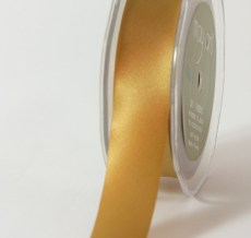 1 Inch Single Faced Satin Cut on the Bias Ribbon with Cut Edge - KK30 - GOLD