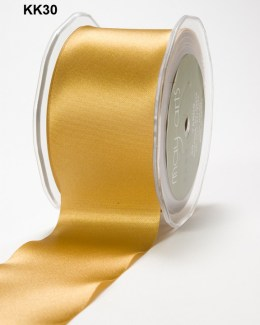 3 Inch Single Faced Satin Cut on the Bias Ribbon with Cut Edge - KK30 - GOLD