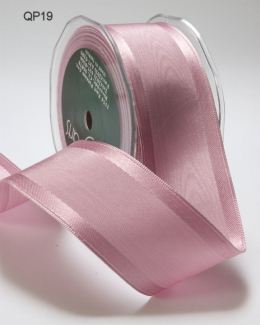 1.5 Inch Moire Iridescent Ribbon with Wired Edge - QP19 - MAUVE