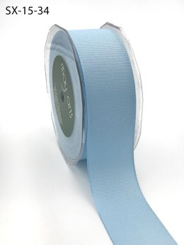 1.5 Inch Heavy-Weight (higher thread count) Classic Grosgrain Ribbon with Woven Edge - SX-15-34 Light Blue