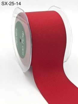 2.5 Inch Heavy-Weight (higher thread count) Classic Grosgrain Ribbon with Woven Edge - SX-25-14 red