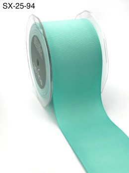 2.5 Inch Heavy-Weight (higher thread count) Classic Grosgrain Ribbon with Woven Edge - SX-25-94 robin's egg blue
