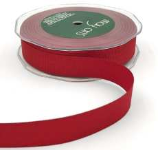 3/4 Inch Heavy-Weight (higher thread count) Classic Grosgrain Ribbon with Woven Edge - SX-34-14 Red