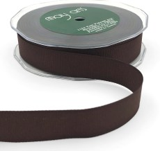 3/4 Inch Heavy-Weight (higher thread count) Classic Grosgrain Ribbon with Woven Edge - SX-34-33 Brown