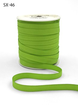 3/8 Inch Heavy-Weight (higher thread count) Classic Grosgrain Ribbon with Woven Edge - SX46 PARROT GREEN