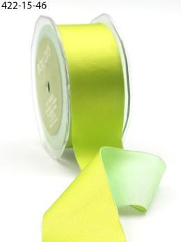1.5 Inch Single Faced Satin / Reversible Iridescent Ribbon - 422-15-46 Celery/Lt Green